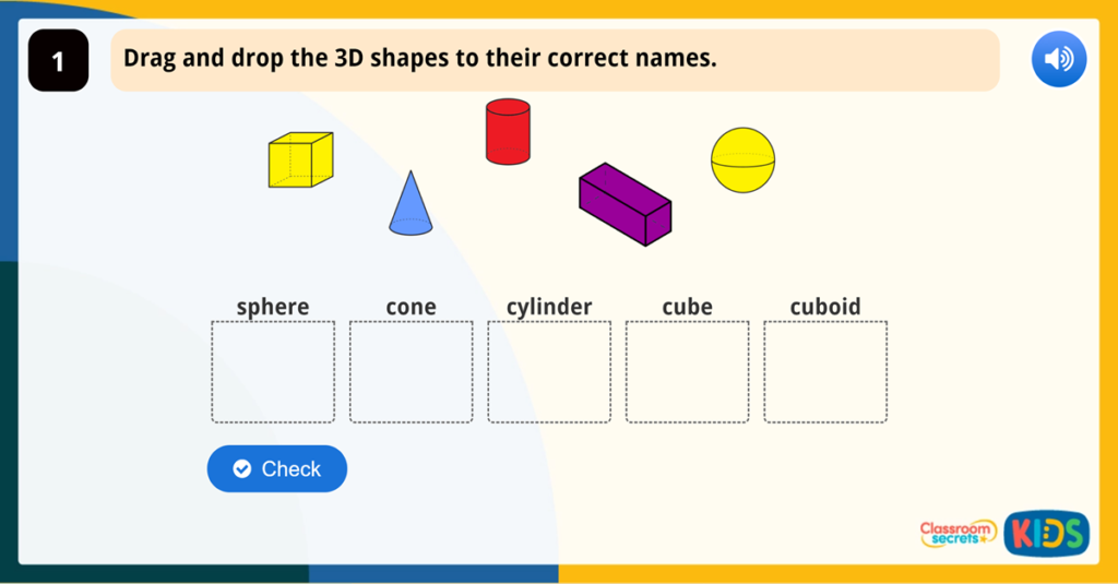 Year 1 3D Shapes
