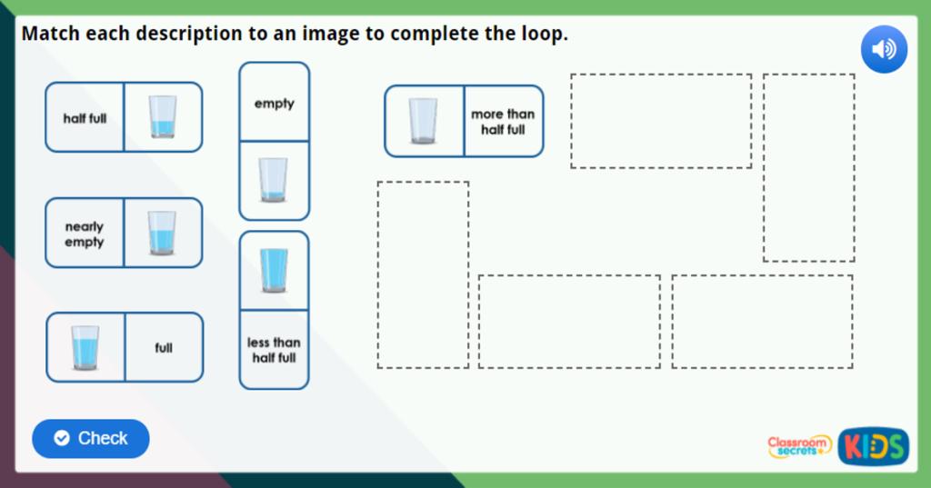 Year 1 Introduce Capacity Maths Challenge