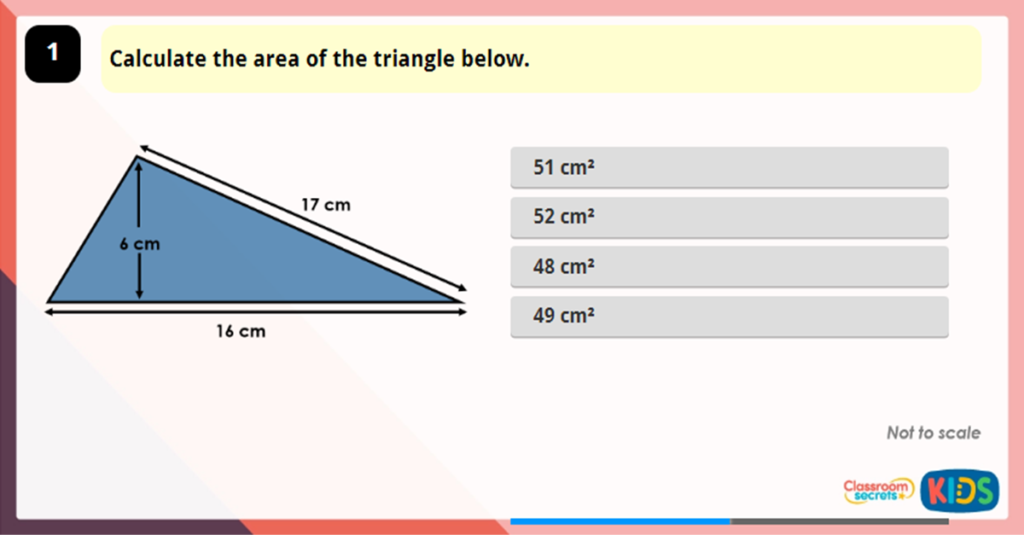 Year 6 Area of a Triangle 3 IG