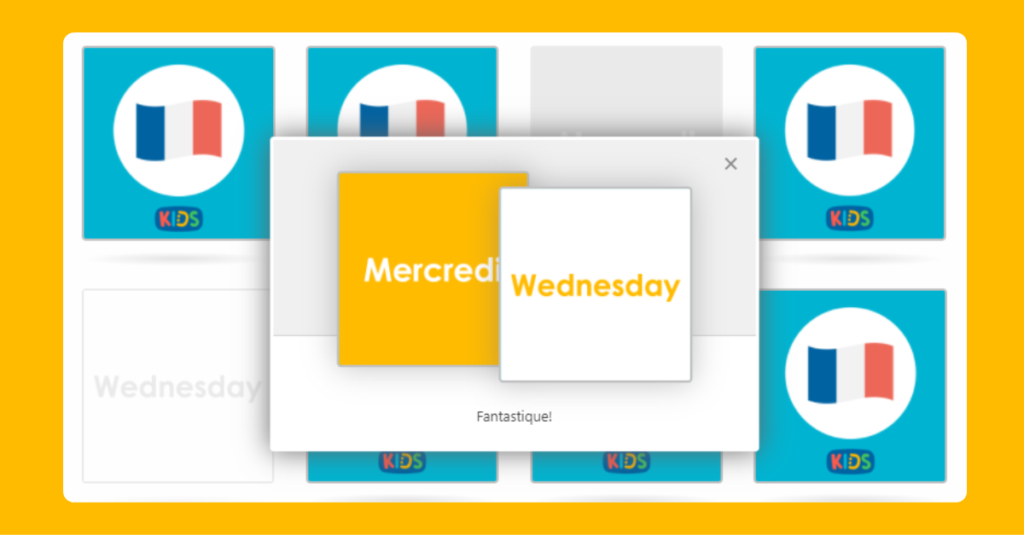 KS2 French Days of the Week Memory Game