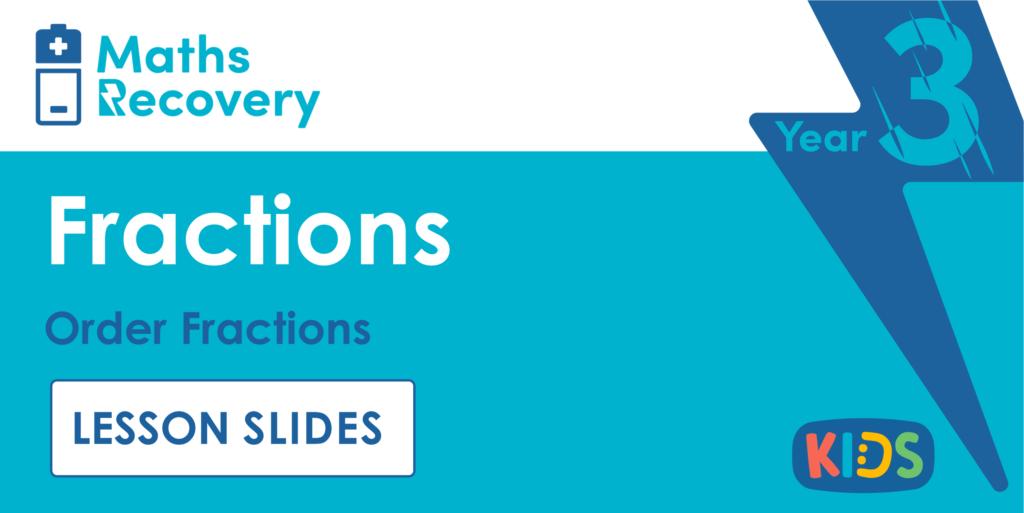 Order Fractions Year 3 Lesson Slides