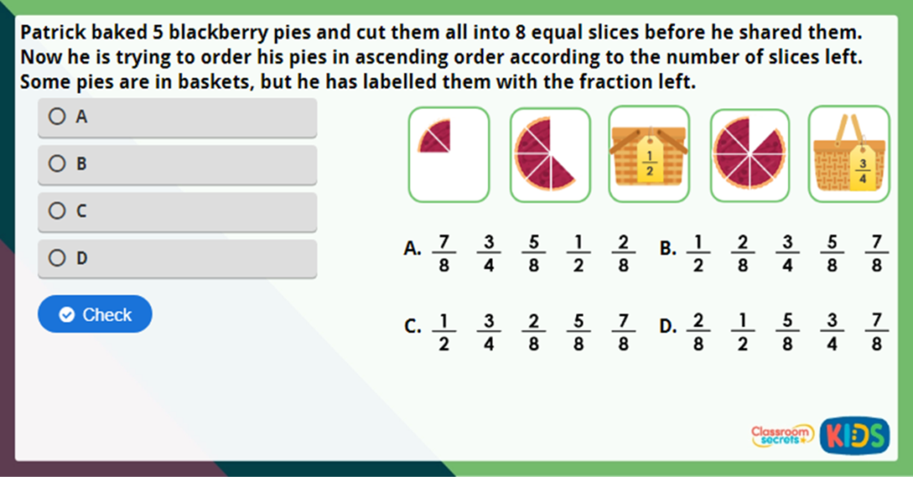 Year 3 Order Fractions