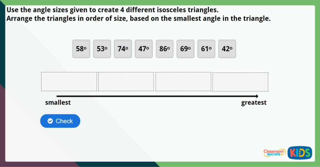 Year 6 Angles in a Triangle 2 Challenge