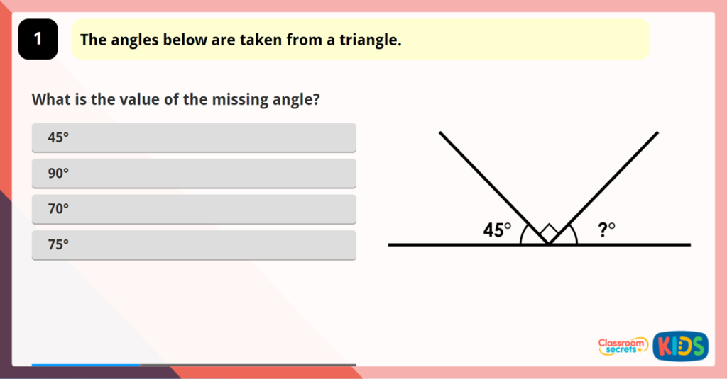 Year 6 Angles in a Triangle 1 Game