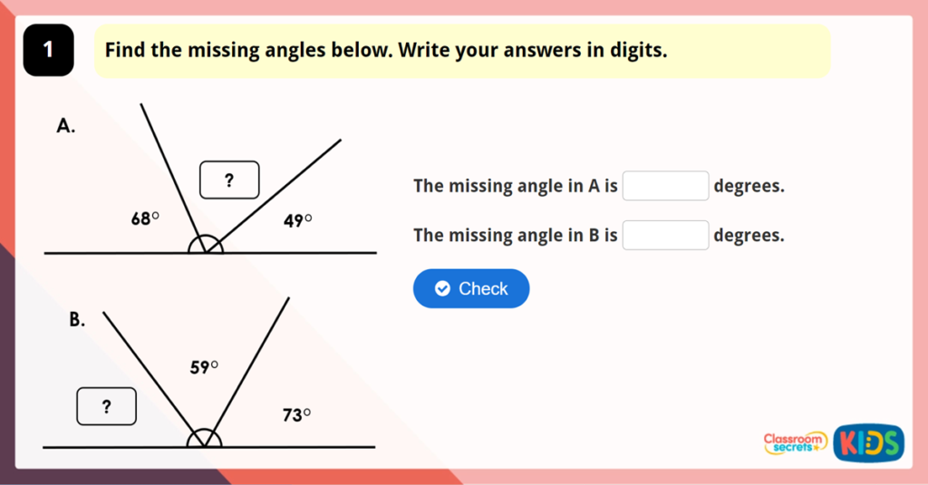 Year 6 Calculate Angles Game