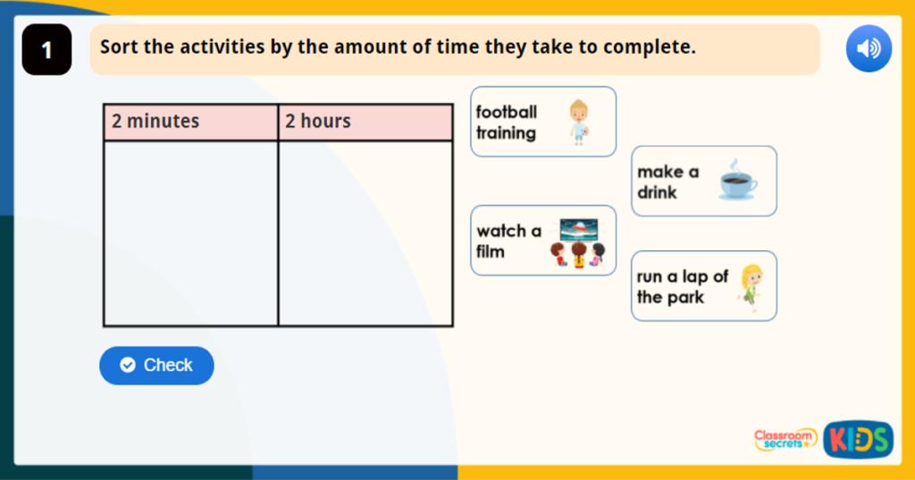 Year 1 Writing Time Maths Game