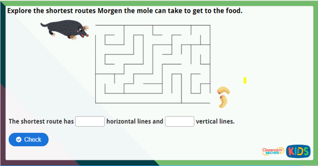 Year 3 Horizontal and Vertical Challenge