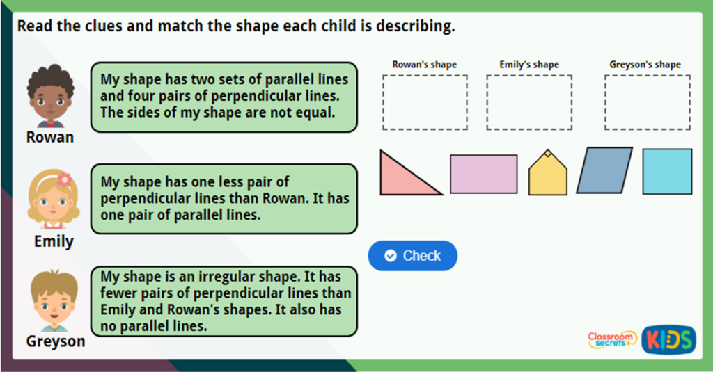 Year 3 Parallel and Perpendicular Challenge