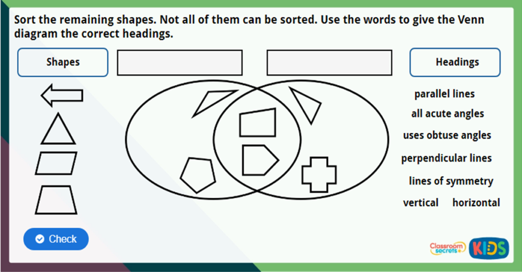Year 3 Recognising and describing 2D Shapes