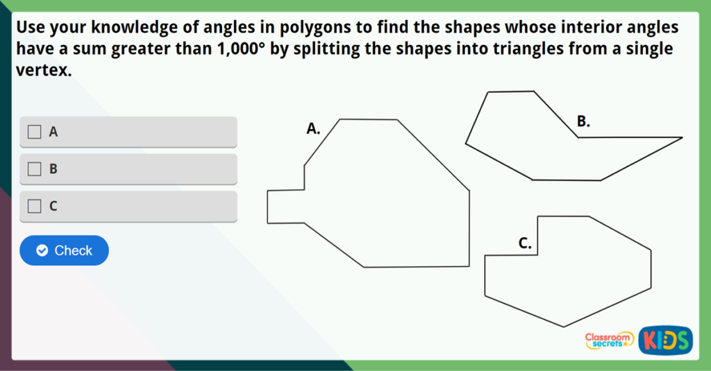 Year 6 Angles in Polygons Challenge