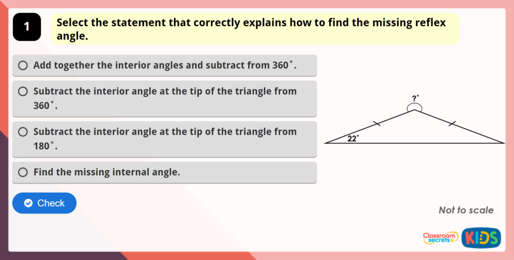Year 6 Angles in a Triangle 3 Maths Game