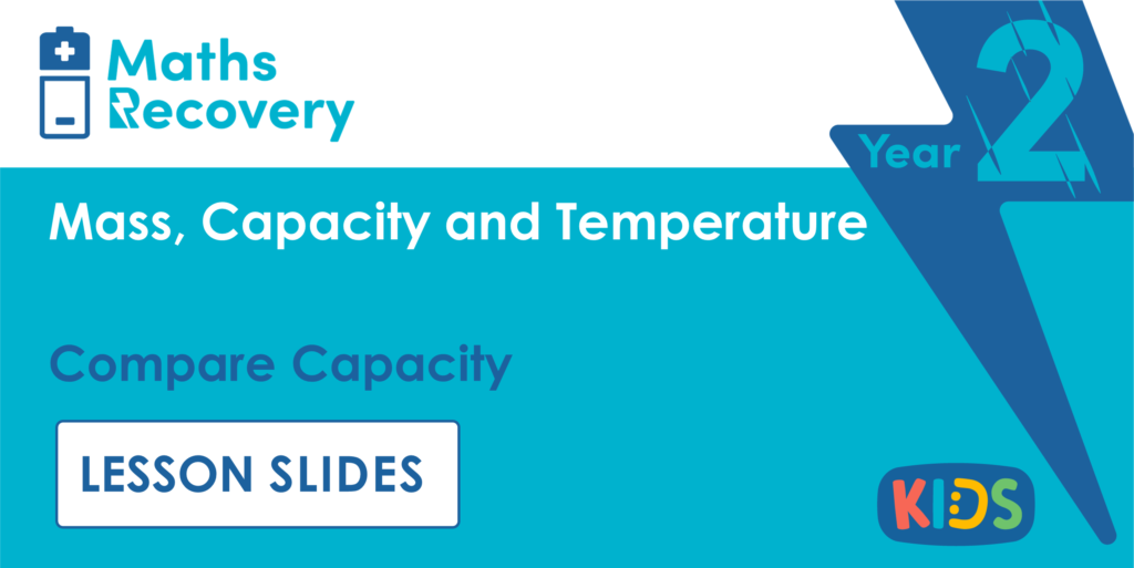 Compare Capacity Year 2 Lesson Slides