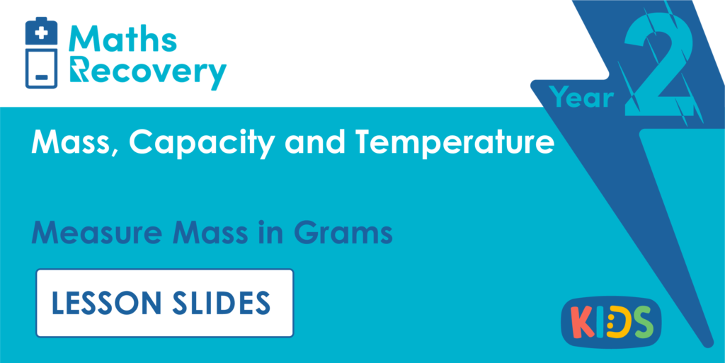 Measure Mass in Grams Year 2 Lesson Slides