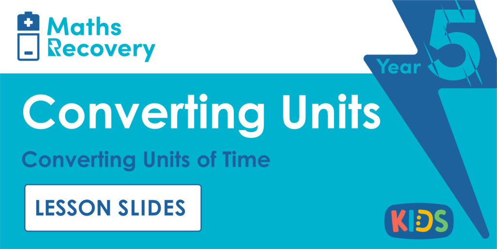 Year 5 Converting Units of Time Lesson Slides