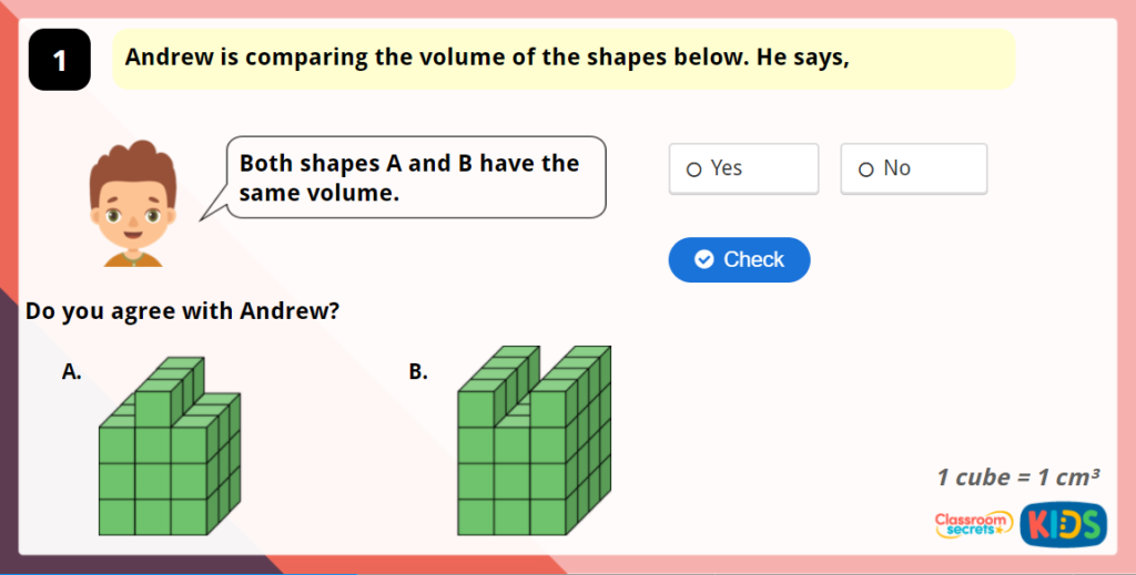 Year 5 Compare Volume Interactive Game