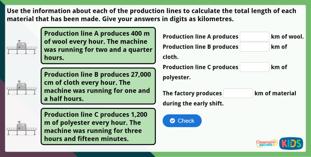 Year 5 Metric Units Maths Challenge