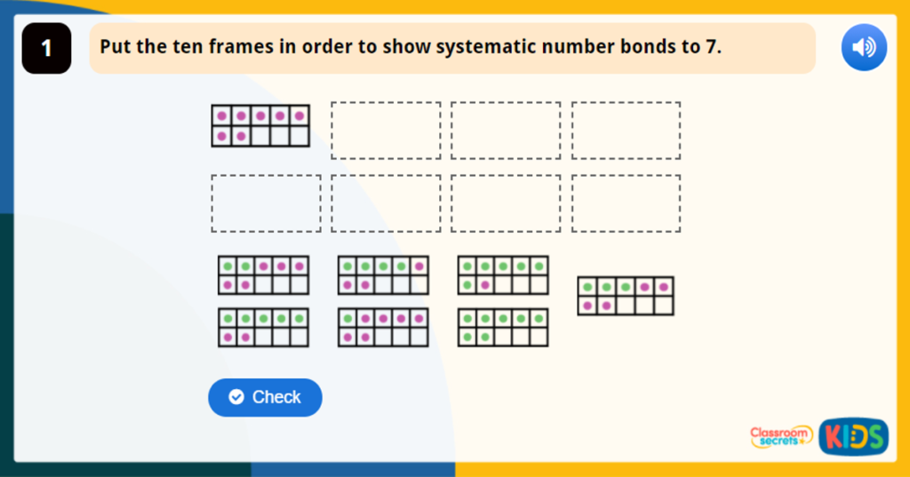 Year 1 Systematic Number Bonds Game