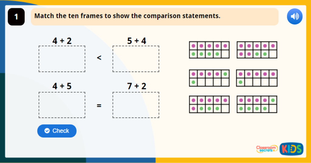 Year 1 Compare Number Bonds Game
