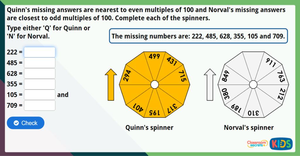 Year 3 Estimate Answers Maths Challenge