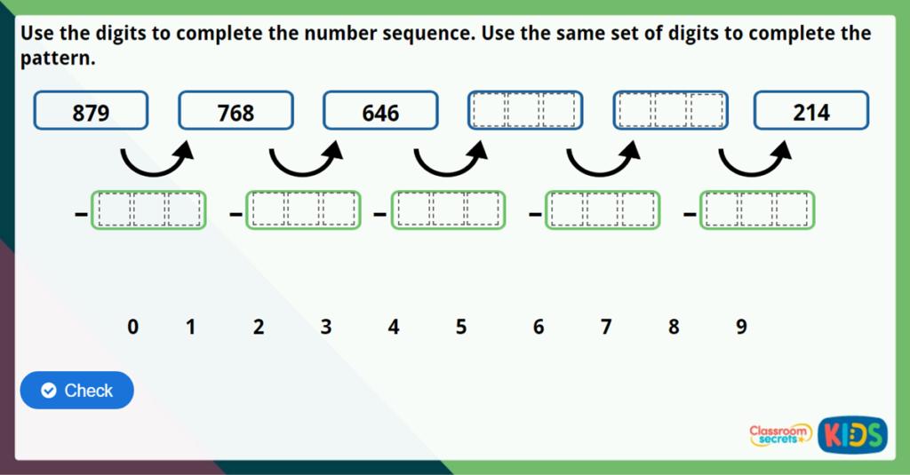 Year 3 Pattern Spotting Maths Challlenge