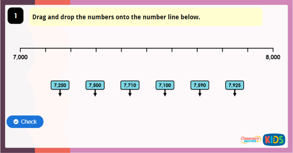 Year 4 Number Line to 10,000 Game