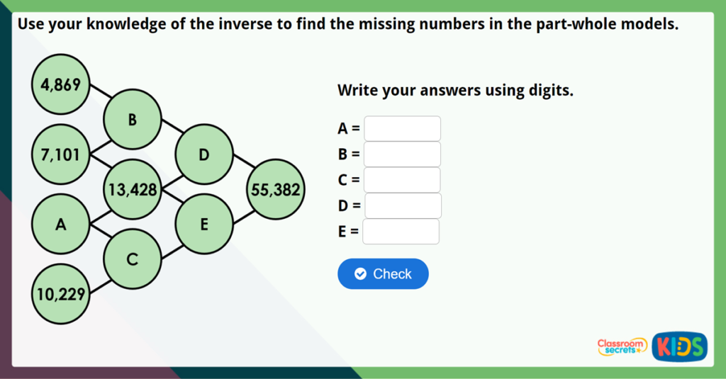 Year 5 Inverse Operations Challenge