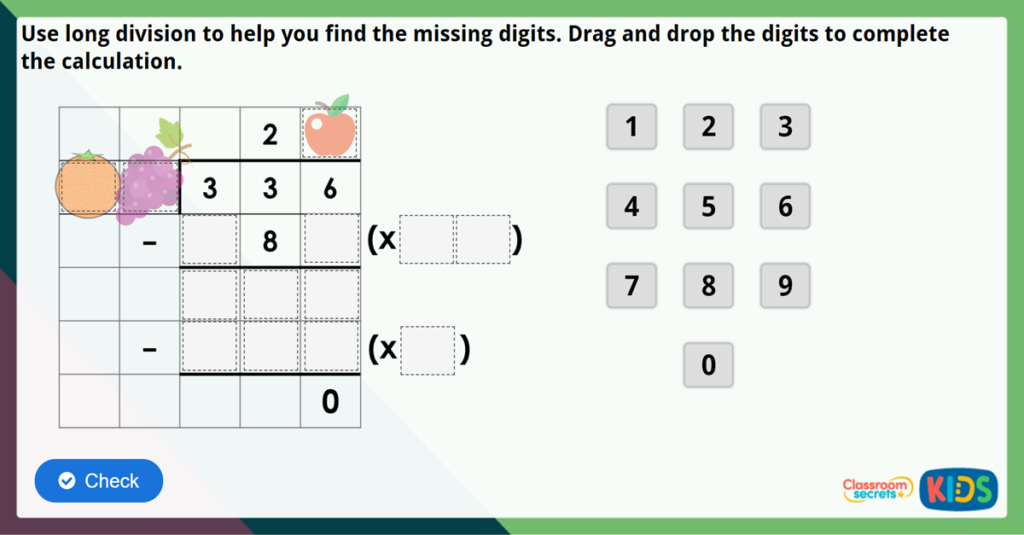 Year 6 Long Division 1 Challenge