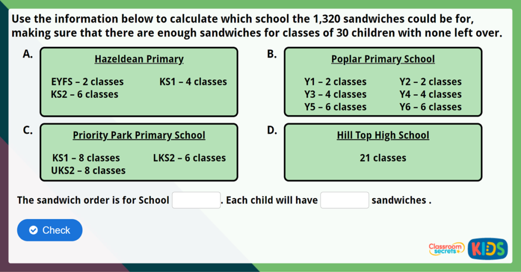 Year 6 Long Division 2 Challenge