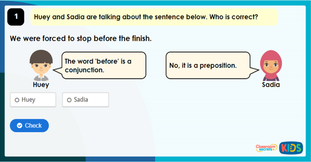 Year 4 Expanding Sentences Using Prepositions