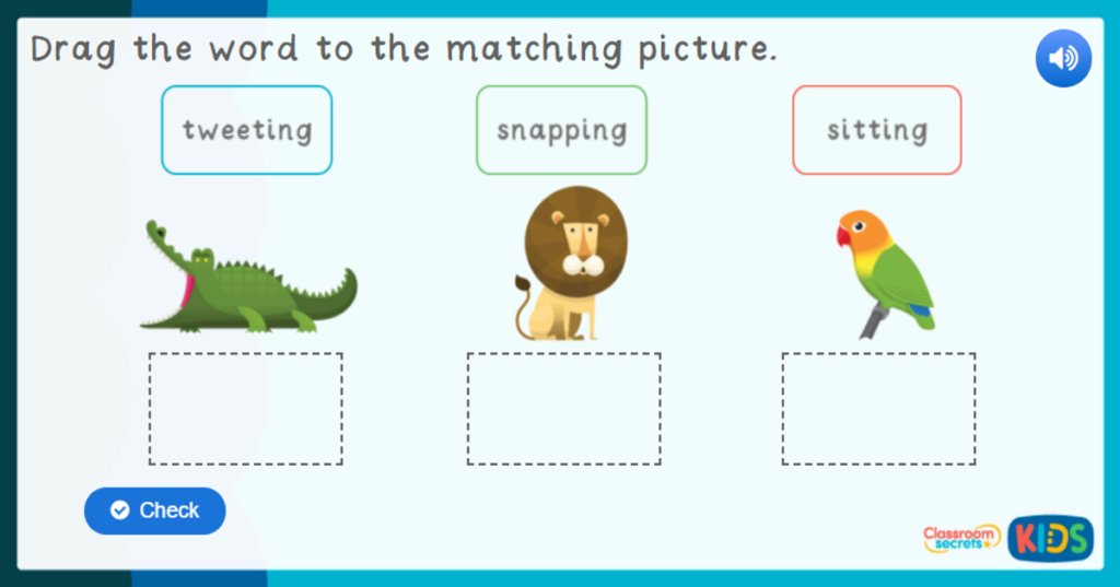 Reception Zoo Labelling Game
