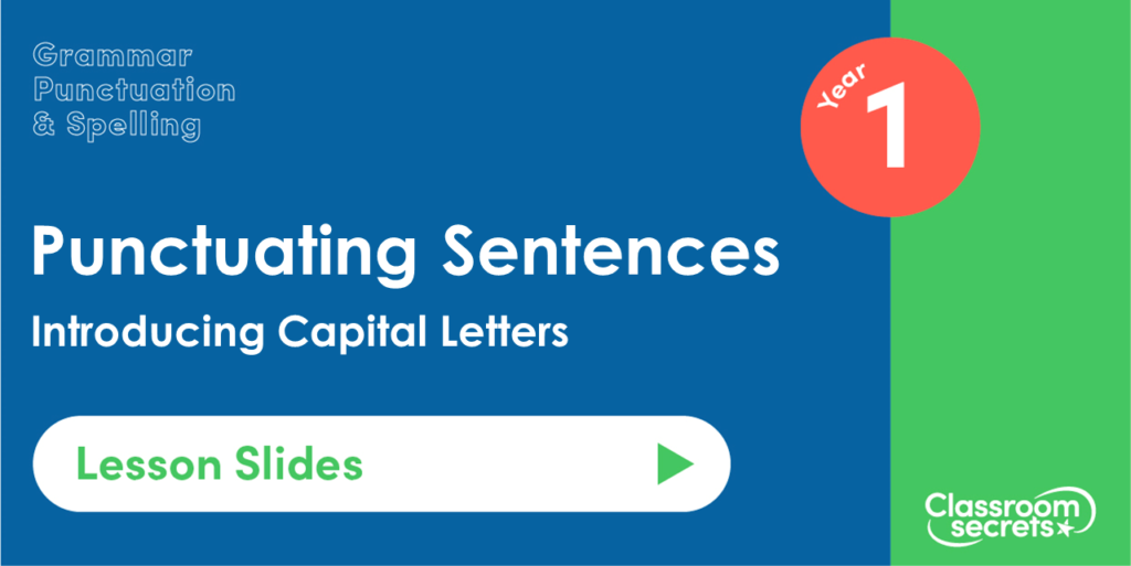 Introducing Capital Letters Year 1 Lesson Slides