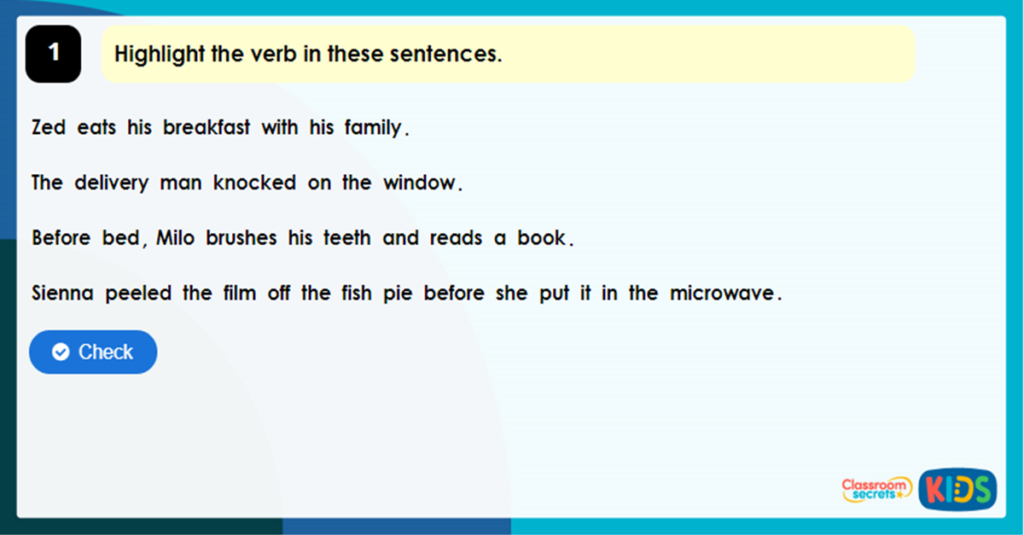 Year 3 Past and Present Tense Game