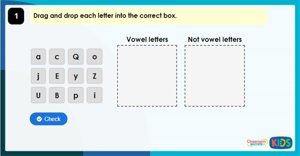 Year 3 What is a Vowel? Game