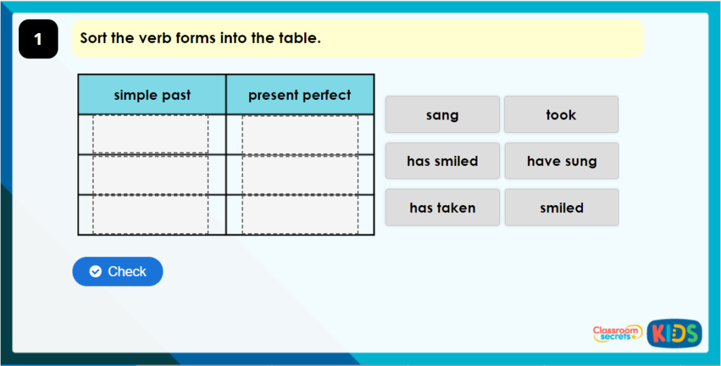 Year 4 Present Perfect or Simple Past Game