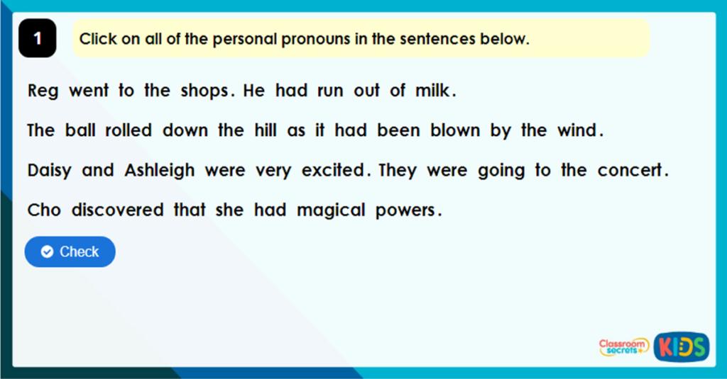 Year 4 Pronoun and Noun? Game