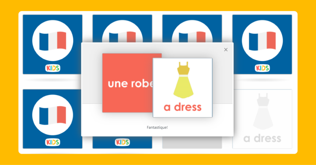 French Clothing Memory Game