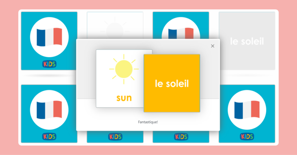 French The Weather Memory Game 2