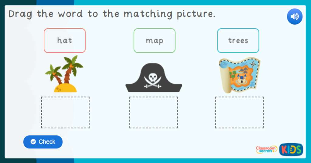 Reception Pirates Labelling Game