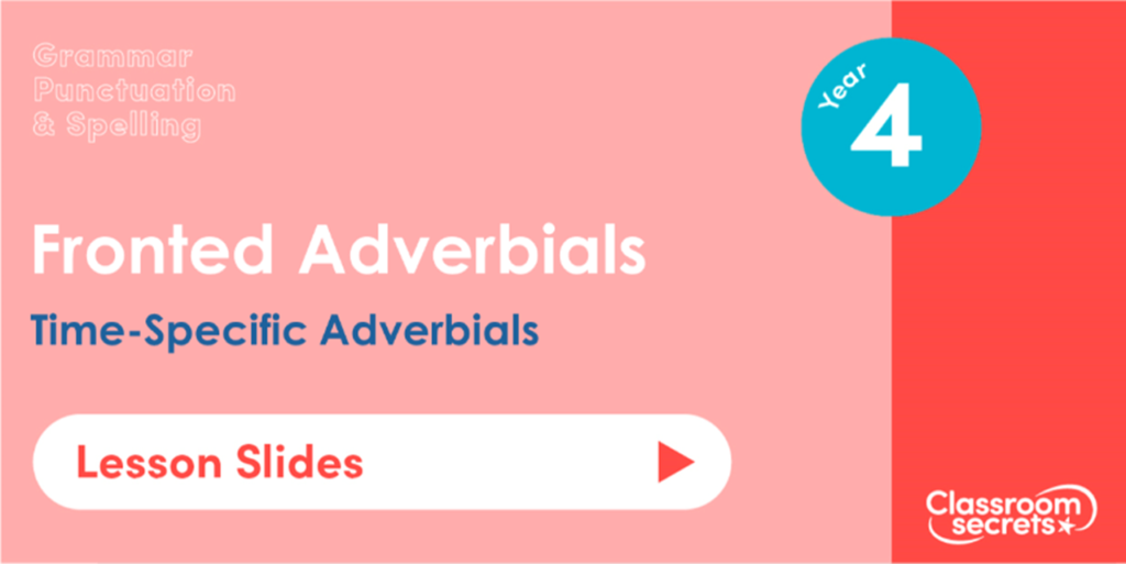 Year 4 Time-Specific Adverbials Lesson Slides