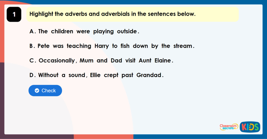 Year 5 Adverbs Game